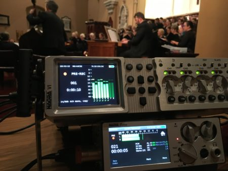 Nagra VI & Seven. Recording the Adelaide University Choral Society in Pilgrim Church, Adelaide